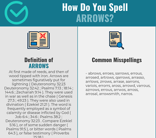 Correct spelling for arrows