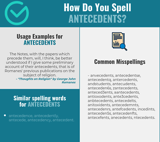 Correct spelling for antecedents