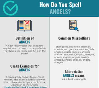 Correct spelling for angels