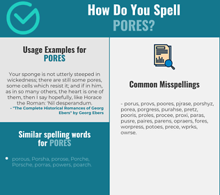 Correct spelling for pores