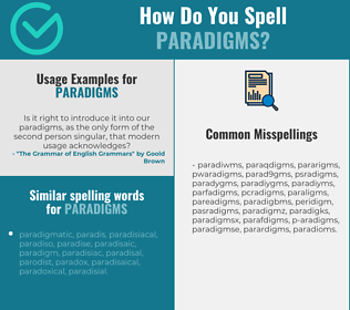 Correct spelling for paradigms