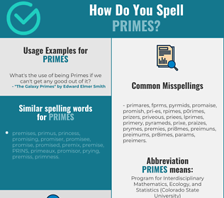 Correct spelling for primes