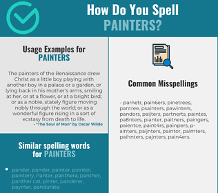 Correct spelling for painters