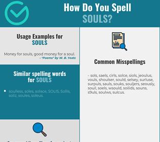 Correct spelling for souls