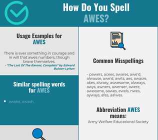 Correct spelling for awes