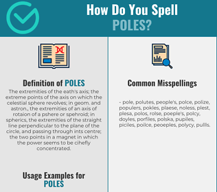 Correct spelling for poles