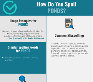 Correct spelling for ponds
