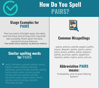 Correct spelling for pairs