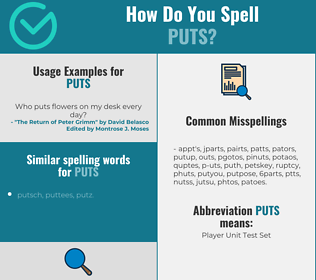 Correct spelling for puts