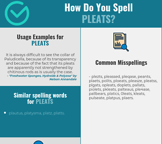 Correct spelling for pleats