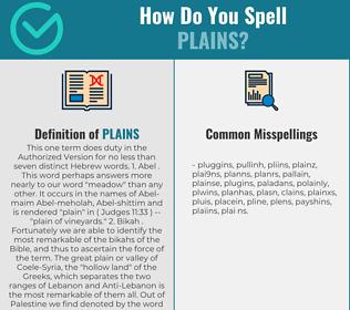 Correct spelling for plains