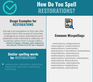 Correct spelling for restorations