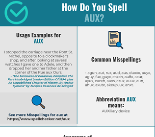 Correct spelling for AUX