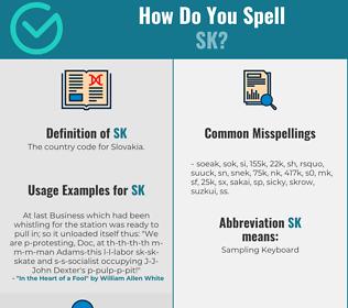 Correct spelling for SK