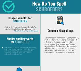 Correct spelling for Schroeder