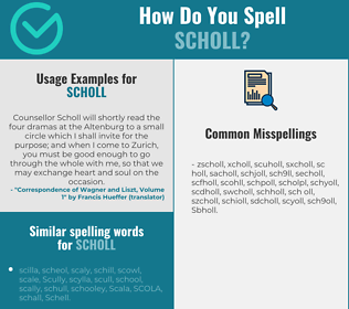 Correct spelling for Scholl