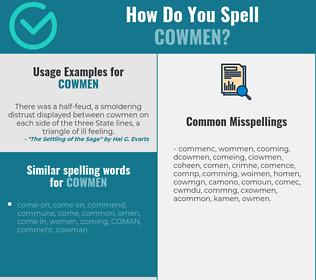 Correct spelling for cowmen