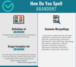 Correct spelling for abandon