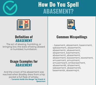 Correct spelling for abasement