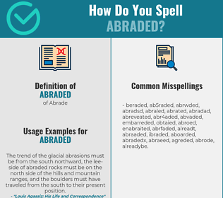 Correct spelling for abraded