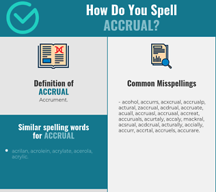 Correct spelling for accrual