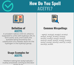 Correct spelling for acetyl