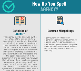 Correct spelling for agency