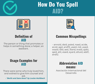 Correct spelling for aid