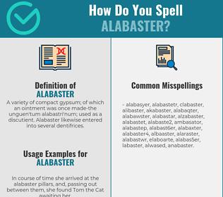 Correct spelling for alabaster