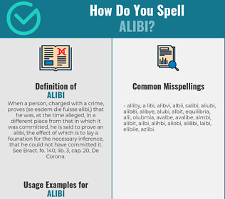 Correct spelling for alibi