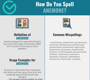 Correct spelling for anemone