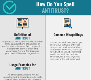 Correct spelling for antitrust