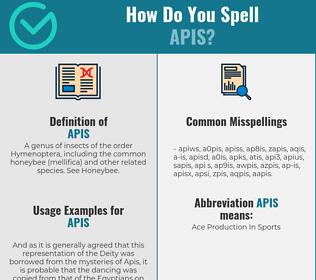 Correct spelling for apis