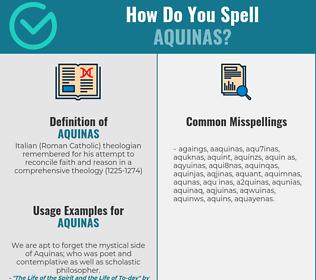 Correct spelling for aquinas