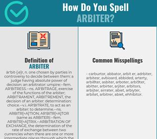 Correct spelling for arbiter