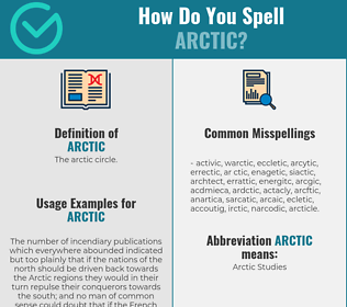 Correct spelling for arctic