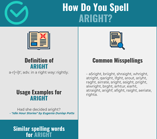 Correct spelling for aright