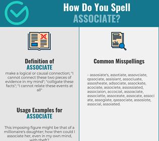 Correct spelling for associate
