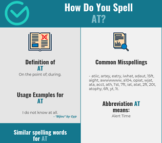 Correct spelling for at