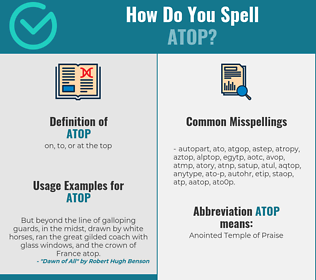 Correct spelling for atop