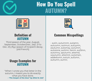 Correct spelling for autumn
