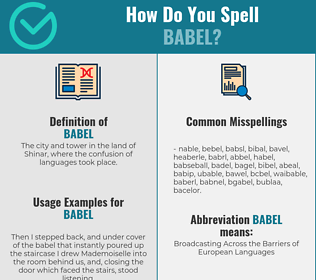 Correct spelling for babel