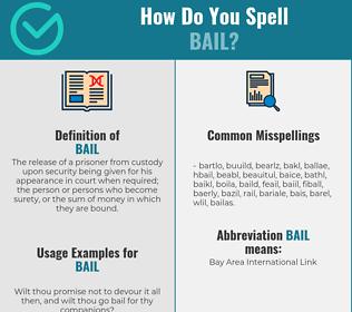 Correct spelling for bail