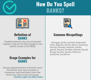 Correct spelling for banks