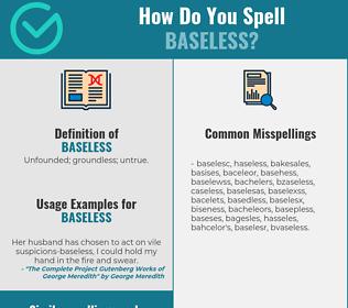 Correct spelling for baseless