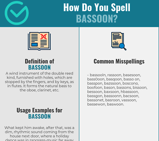 Correct spelling for bassoon