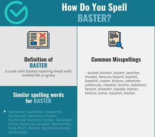 Correct spelling for baster