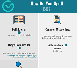 Correct spelling for bd
