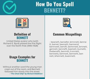 Correct spelling for bennett