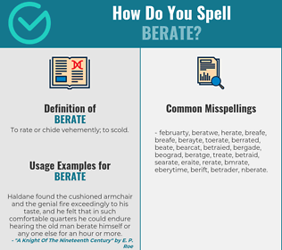 Correct spelling for berate